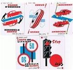 Mille Bornes Hazard Cards