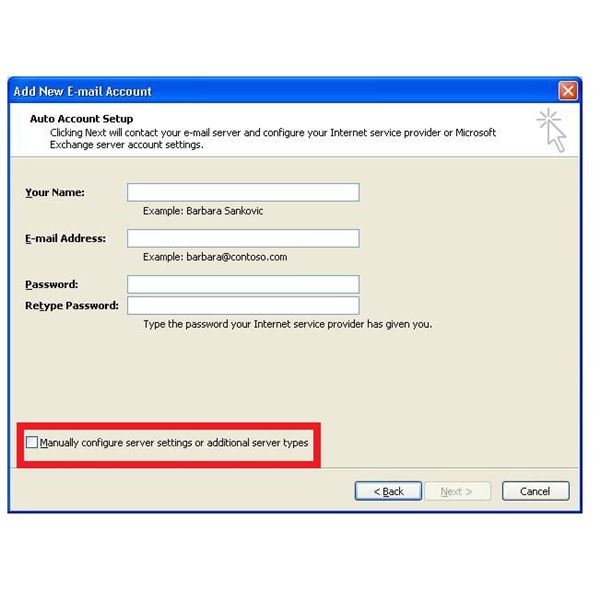 Setup Comcast in Outlook 2007