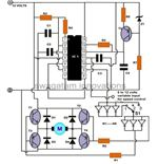 DC Motor Speed Controller, IC556 PWM Controller, Circuit Diagram, Image