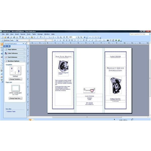 how to make a watermark in publisher 2007