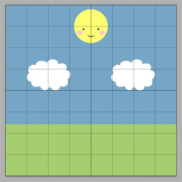 A grid is useful for aligning things in Photoshop.
