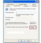 Change Windows XP Workgroup Name
