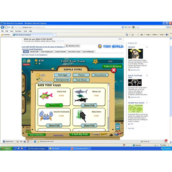 Facebook fish world game review learn how to manage your for Fish world games