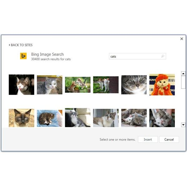 Microsoft Clipart Borders was replaced with Bing Image Search