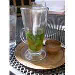 Mint tea served in Morocco.