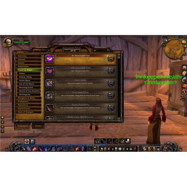 PvP Achievements in World of Warcraft: Earn WoW Achievement Points for Slaughtering Your Fellow Players
