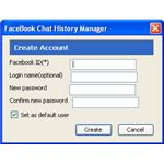 facebook chat history manager dialog
