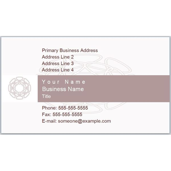 Business Card With Hypotrochoid Designs