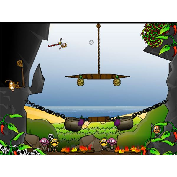 Cannibal Cassarole - One of the Best Online PC Games like Angry Birds