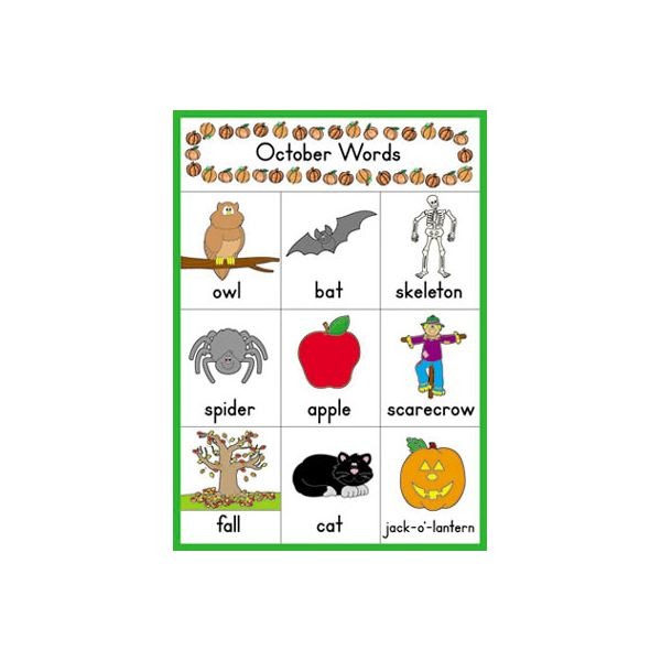 Halloween Words Poster