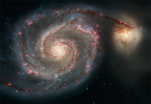 Whirlpool Galaxy and Pup