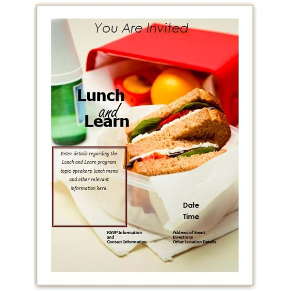 Free Business Lunch and Learn Invitation Forms: Options for MS Word and Publisher
