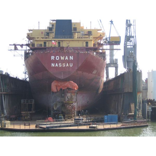 Ship at Dry Dock