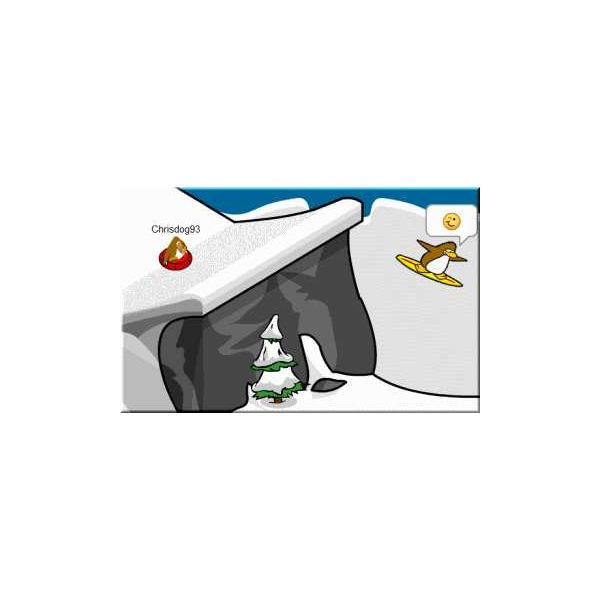 Surfer in a Sled from Club Penguin