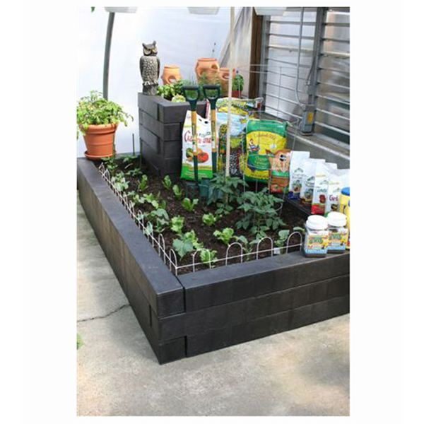 Plastic Landscape Timbers Used in Raised Bed - Wood Landscape Timbers Vs. Plastic Timbers - The Enviromentally