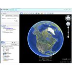 Google Earth displaying satellite imagery of the globe in 3D.