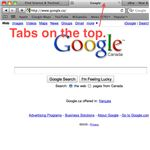 Tabs on top.