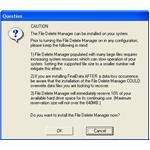 File Delete Manager screen
