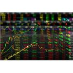 Stock Exchange Graph Background by worradmu