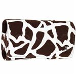 Luxmo Giraffe Brown Horizontal Pouch closed