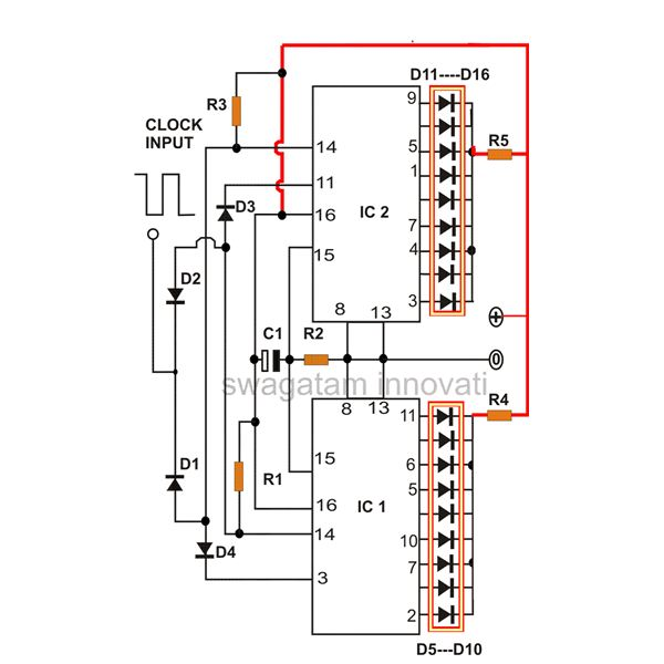 How to Produce 18 Sequential Outputs by Cascading 4017 IC - Light