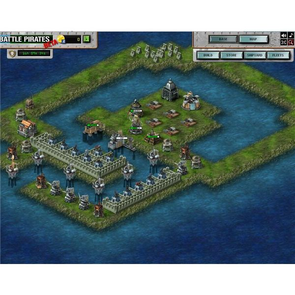 Battle Pirates: Layout With Entrance Turns