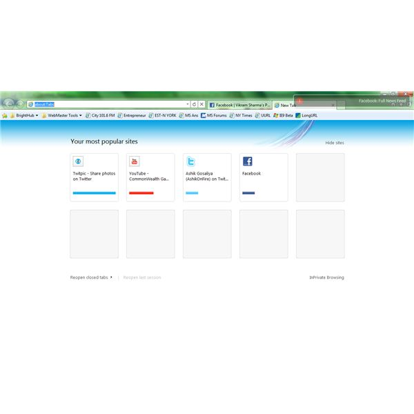 Fig 2 IE9 versus IE8 - The New Tab Page