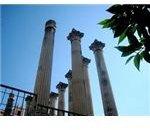 Reconstructed Roman Columns