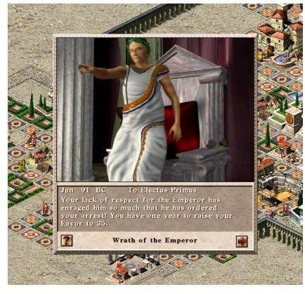 Caesar 3 Walkthrough - Description of The Favour Rating Score in Caesar 3 PC Game