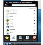 The KDE main menu.