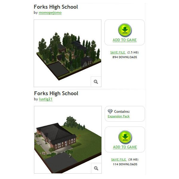 The Sims 3 Forks High School Download