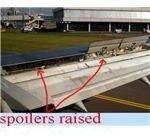 airplane spoilers raised