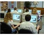 Students taking computerized exam