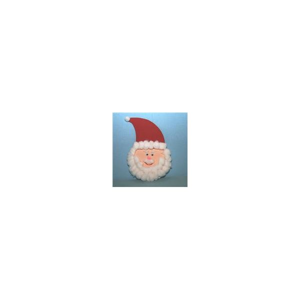 Cotton Ball Santa Claus