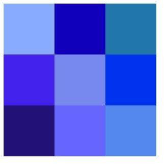 Color icon blue
