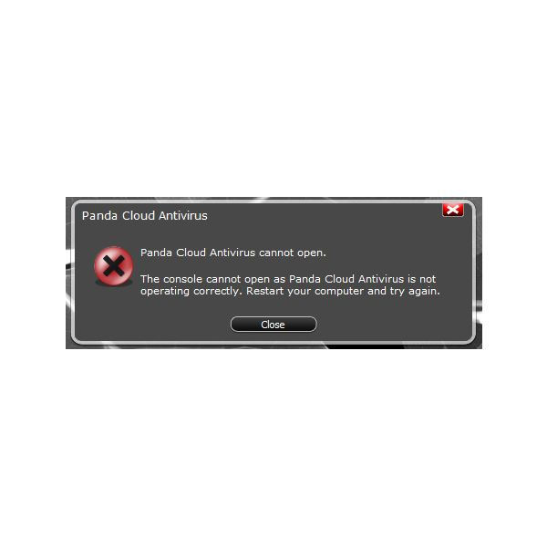 Panda Antivirus Cannot Open