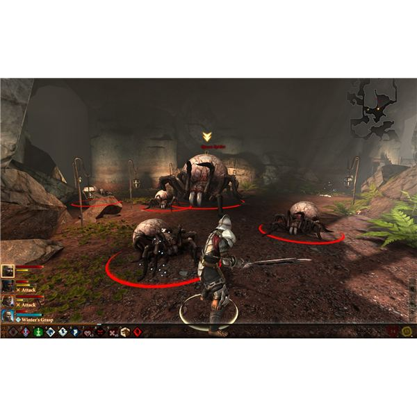 Dragon Age 2 Walkthrough - Cave Crawling - Killing the Queen Spider
