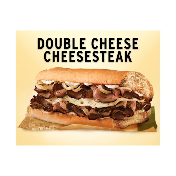 Quiznos Double Cheese Cheesesteak Detail