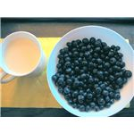 Blueberries and soy milk