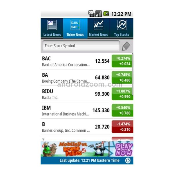 best rated stock tracking apps for android