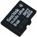 SanDisk microSDHC 8GB Memory Card LG Vortex Accessory