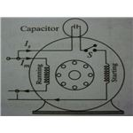 Externally mounted capacitor