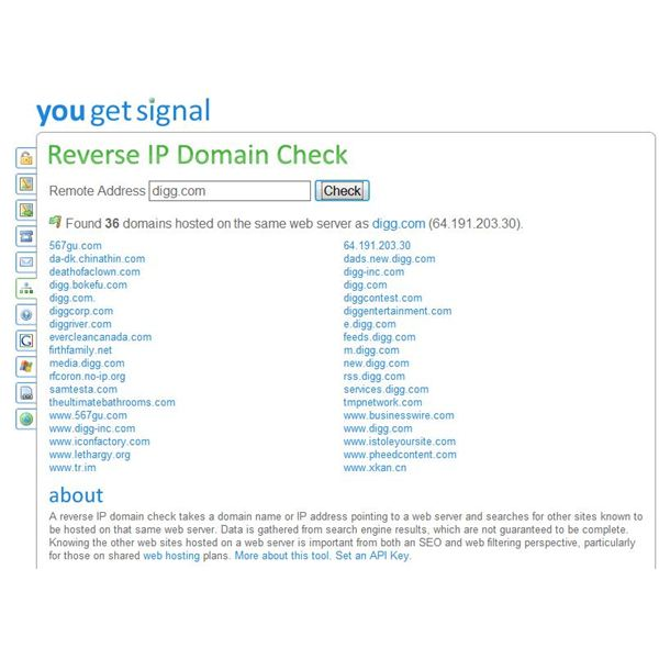 You Get Signal Reverse Look-up Search