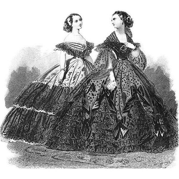 Vintage Ball Gowns and Hoop Skirts