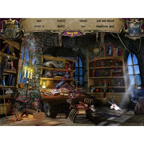 Hidden Object Room - Castle Tower