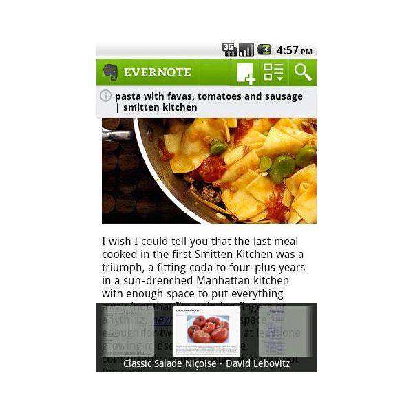 EverNote Droid top HTC Desire Application