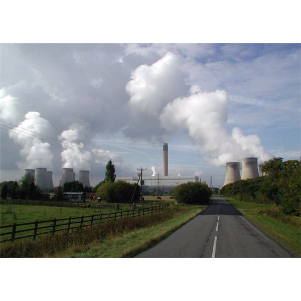 Drax coal-fired power station (last one to be built in Britian) from Wiki Commons by Paul Glazzard