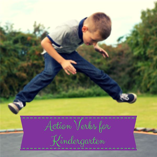Action Verbs for Kindergarten