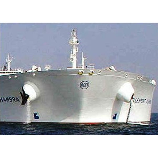Oil tanker Bow showing hawsepipes from www.blueoceantackle