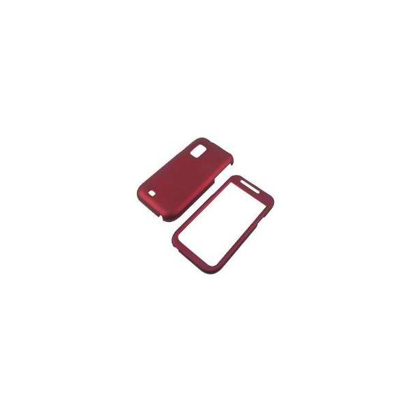 Samsung i500 Fascinate Galaxy S Rubberized Shield Hard Case - Red